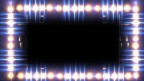 Frontière légère de lueur banque de vidéos