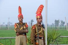 Frontière Lahore Pakistan de Wagha de frontière d'Inde du Pakistan Photos libres de droits