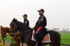Frontière Lahore Pakistan de Wagha de frontière d'Inde du Pakistan Images libres de droits
