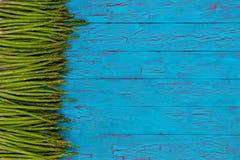 Frontière latérale des lances vertes fraîches d'asperge Photo libre de droits
