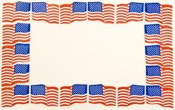 Frontière minuscule de drapeaux Photo libre de droits