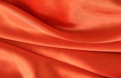 Frontière orange de satin de couleur Photographie stock libre de droits