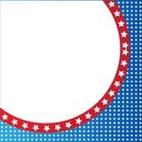 Frontière patriotique américaine, fond, avec des étoiles illustration stock