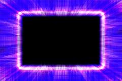 Frontière pourpre et bleue approximative de rayon de soleil Images libres de droits