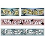 Frontière quatre de fines herbes décorative Illustration Stock