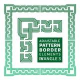 Frontière réglable avec des éléments IV, angle 3 Photos libres de droits