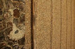Frontière ratissée de sable Image stock