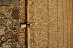 Frontière ratissée de sable Photographie stock