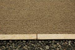 Frontière ratissée de sable Photo libre de droits