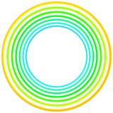 Frontière ronde de cadre de cercles verts de cru illustration libre de droits