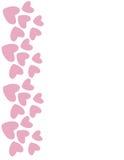 Frontière rose de coeur Vecteur Photographie stock