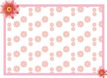 Frontière rose de fleur Photographie stock libre de droits