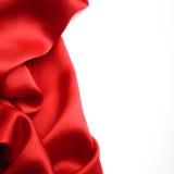 Frontière rouge de satin Photos libres de droits