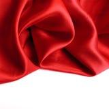 Frontière rouge de satin Images stock