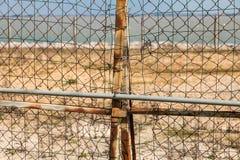 frontière rouillée de barrière de l'Europe Image stock