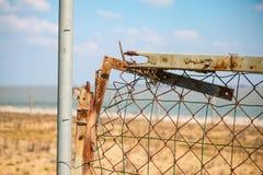 frontière rouillée de barrière de l'Europe Photo stock