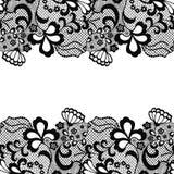 Frontière sans couture de dentelle Carte _1 d'invitation Image libre de droits