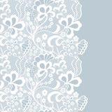 Frontière sans couture de dentelle Carte _1 d'invitation Photo stock