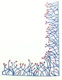 Frontière tirée par la main avec des lignes avec des points Photos libres de droits