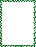 Frontière verte avec le vecteur de fleurs Images libres de droits