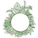 Frontière verte sur le fond blanc Images stock