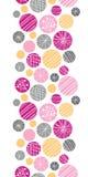 Frontière verticale de bulles texturisées abstraites sans couture Image stock