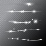 Frontières brillantes transparentes avec des lumières sur Gray Background illustration de vecteur