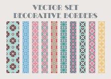 Frontières décoratives de vecteur Photos libres de droits