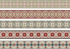 Frontières décoratives sans couture Photographie stock libre de droits