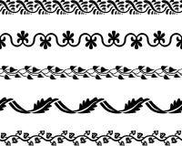 Frontières décoratives sans couture Photos stock