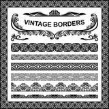 Frontières de vintage - ensemble Photos libres de droits