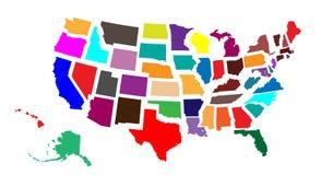 Frontières des Etats-Unis (52 pour 1) illustration libre de droits