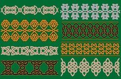 Frontières et ornements linéaires celtiques Photographie stock libre de droits