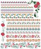Frontières florales colorées Photo stock