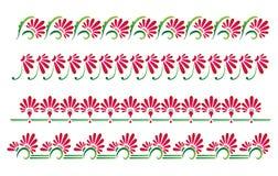 Frontières florales décoratives Photographie stock