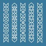 Frontières ornementales islamiques sans couture Frontière sans couture de modèle, arabe Image stock