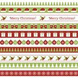 Frontières sans couture de Noël Photo stock