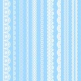 Frontières sans couture de noir horizontal de dentelles de collection illustration libre de droits