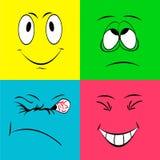 Fronti allegri di smiley Fotografia Stock