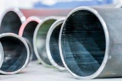 Fronti dell'estremità dei tubi del metallo Fotografie Stock Libere da Diritti