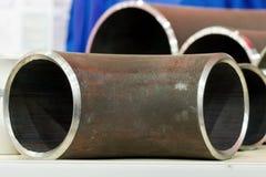 Fronti dell'estremità dei tubi del metallo Fotografia Stock Libera da Diritti