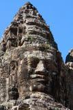 Fronti della pietra di Bayon Angkor Fotografie Stock Libere da Diritti