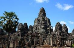 Fronti della pietra di Bayon Angkor Fotografia Stock Libera da Diritti