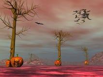 Fronti della zucca di Halloween - 3D rendono Immagine Stock