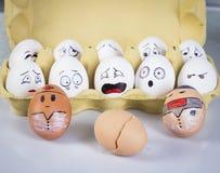 Fronti delle uova immagine stock