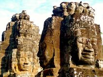 Fronti di Angkor Wat Fotografie Stock Libere da Diritti