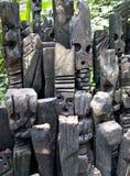 Fronti di legno a Eden Fotografia Stock