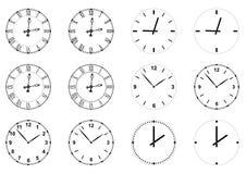 Fronti di orologio Fotografie Stock Libere da Diritti