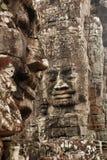 Fronti di pietra, tempio di Bayon, Angkor Thom immagini stock libere da diritti