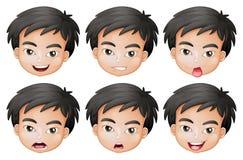 Fronti di un ragazzo illustrazione di stock